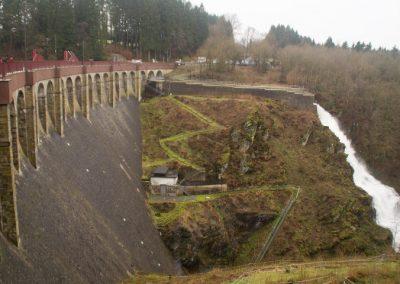 Stuwdam Robertville op 3km